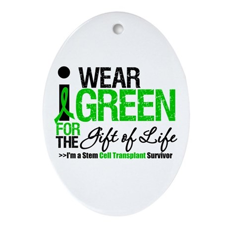 I Wear Green SCT Survivor Oval Ornament