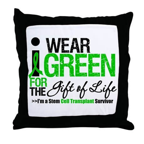 I Wear Green SCT Survivor Throw Pillow