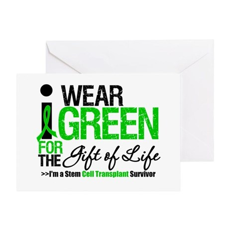 I Wear Green SCT Survivor Greeting Card