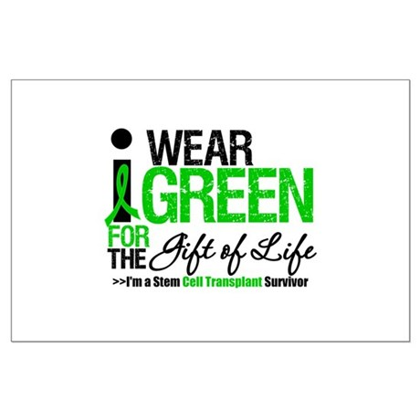 I Wear Green SCT Survivor Large Poster
