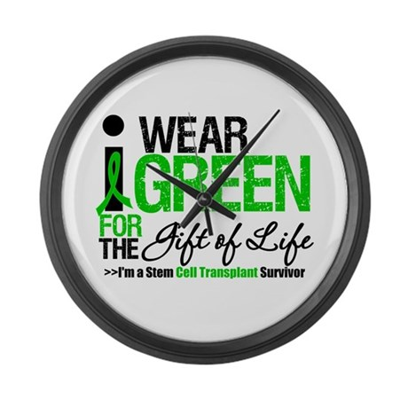 I Wear Green SCT Survivor Large Wall Clock