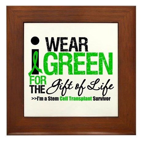 I Wear Green SCT Survivor Framed Tile