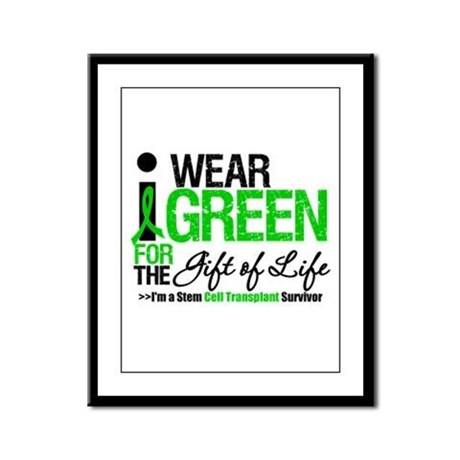 I Wear Green SCT Survivor Framed Panel Print