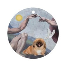 """Creation"" & Pekingese Ornament (Round)"