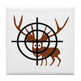 Deer Hunter Crosshair Tile Coaster