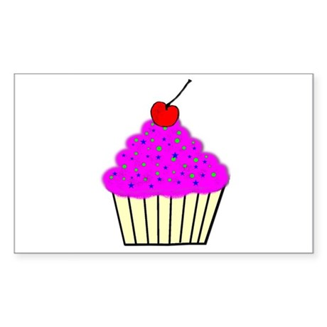 Cute Cupcakes! Rectangle Sticker