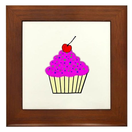 Cute Cupcakes! Framed Tile