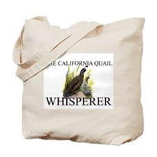 The California Quail Whisperer Tote Bag