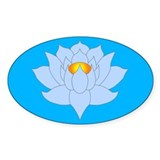 lotus Oval Decal