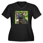 Canine Blessing Women's Plus Size V-Neck Dark T-Sh
