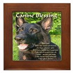 Canine Blessing Framed Tile