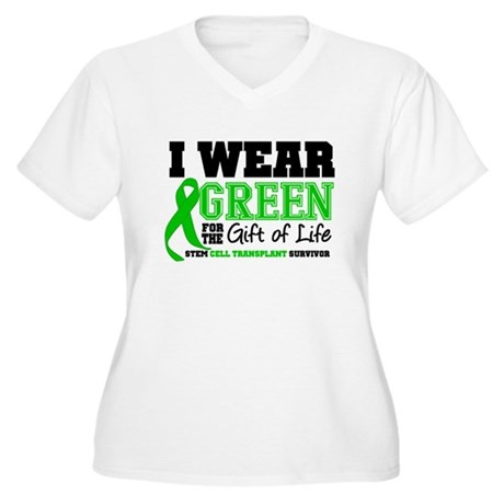 SCT I Wear Green Women's Plus Size V-Neck T-Shirt