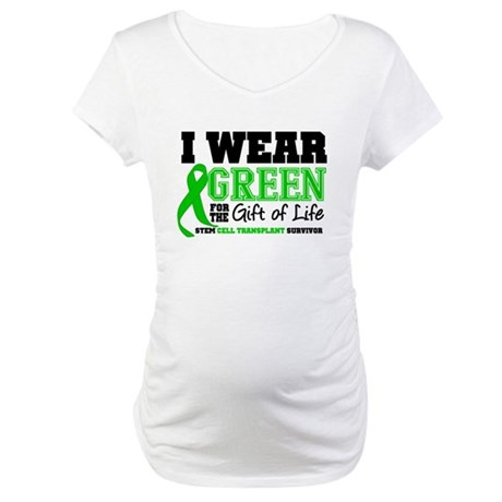 SCT I Wear Green Maternity T-Shirt