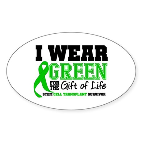 SCT I Wear Green Oval Sticker (10 pk)