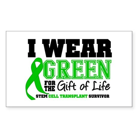 SCT I Wear Green Rectangle Sticker 10 pk)
