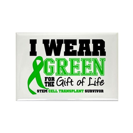 SCT I Wear Green Rectangle Magnet (100 pack)