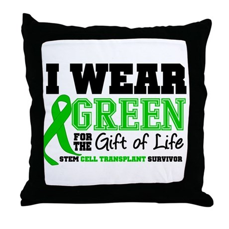 SCT I Wear Green Throw Pillow