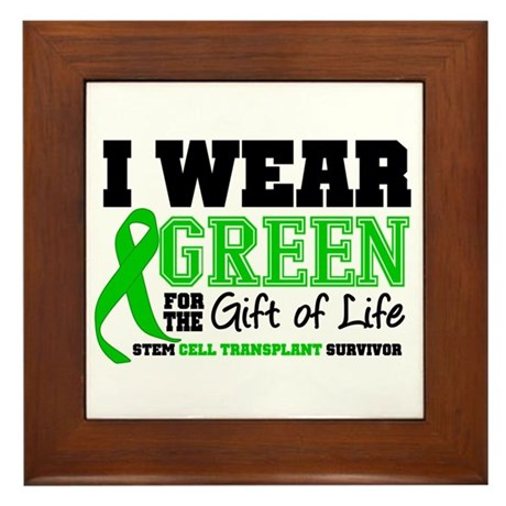 SCT I Wear Green Framed Tile