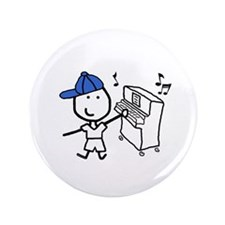 "Boy & Piano 3.5"" Button"