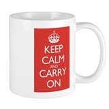 Keep Calm and Carry On Double Red Small Mugs