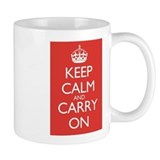Keep Calm and Carry On Double Red Tasse