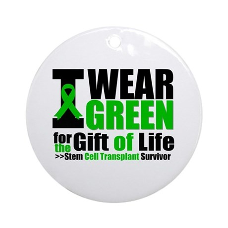 SCT I Wear Green Ornament (Round)