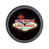 LOST WAGES Wall Clock