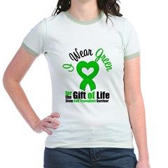 SCT Survivor I Wear Green Jr. Ringer T-Shirt