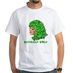 Shamrock Hair Naturally Curly Girl White T-Shirt