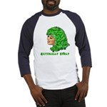 Shamrock Hair Naturally Curly Girl Baseball Jersey