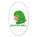 Shamrock Hair Naturally Curly Girl Sticker (Oval 5