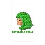 Shamrock Hair Naturally Curly Girl Sticker (Rectan