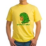Shamrock Hair Naturally Curly Girl Yellow T-Shirt