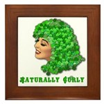 Shamrock Hair Naturally Curly Girl Framed Tile