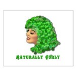 Shamrock Hair Naturally Curly Girl Small Poster