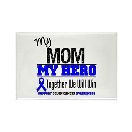 ColonCancerHero Mom Rectangle Magnet