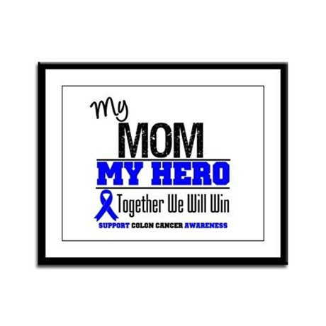ColonCancerHero Mom Framed Panel Print