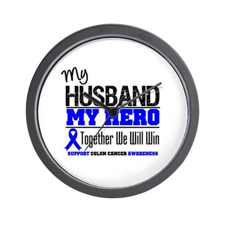 ColonCancerHero Husband Wall Clock