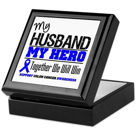 ColonCancerHero Husband Keepsake Box