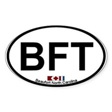 Beaufort NC Oval Decal