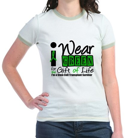 SCT I Wear Green Jr. Ringer T-Shirt