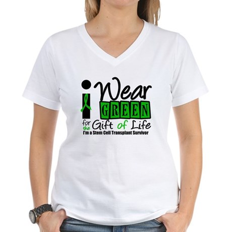 SCT I Wear Green Women's V-Neck T-Shirt
