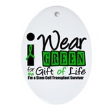SCT I Wear Green Oval Ornament