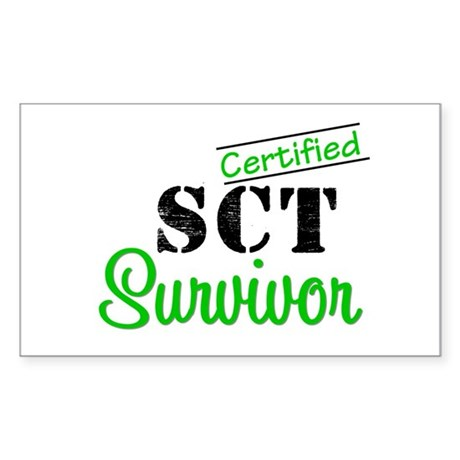 SCT I Wear Green Rectangle Sticker