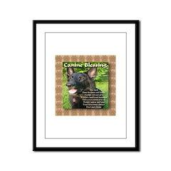 Canine Blessing Framed Panel Print