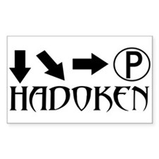 Hadoken Rectangle Stickers