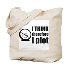 I Think, Therefore I Plot Tote Bag