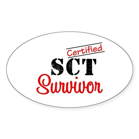 SCT I Wear Green Oval Sticker