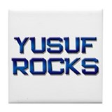 yusuf rocks Tile Coaster