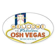 Osh Vegas Oval Sticker (50 pk)